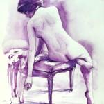 Nudo seduto anni '20